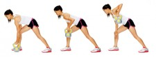 kettlebell arm lunge