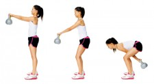 kettlebell through squat