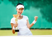 tennis woman winner