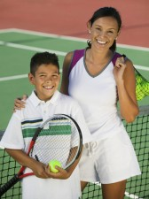 tennis parent and son