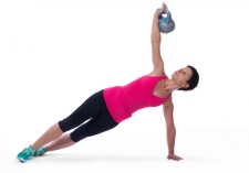 kettlebell yoga side lift