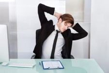 office stretch arms behind back